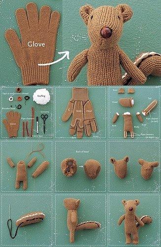 Osito juguetes reciclados