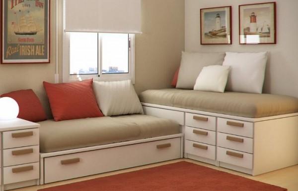 55 ideas de c mo aprovechar y ahorrar espacio en el hogar - Habitaciones infantiles dobles poco espacio ...