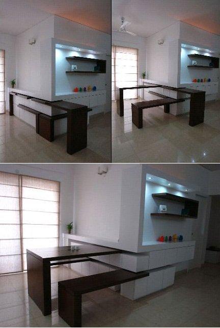 ahorrar espacio en la cocina con muebles flexibles