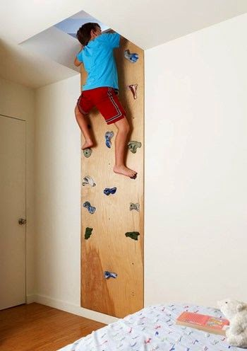 Escalador para ahorrar espacio en habitación de niños