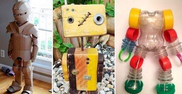 Juguetes realizados con materiales reciclados