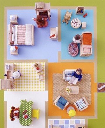casita de juguete material reciclado