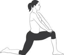 mejorar la postura rodilla flexionada
