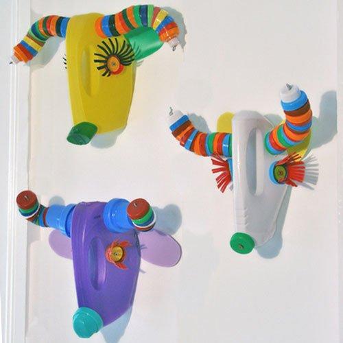juguetes máscaras juguetes reciclados helicóptero juguete reciclado bote de plástico
