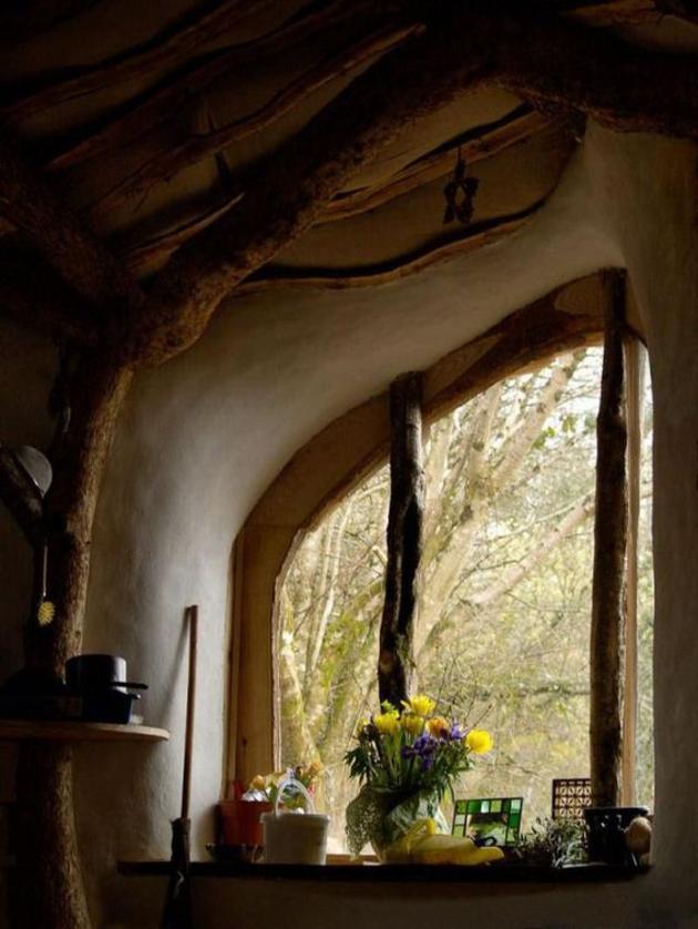 casa hobbit ventana