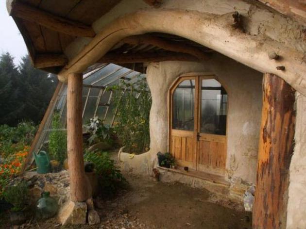 Casa hobitt invernadero