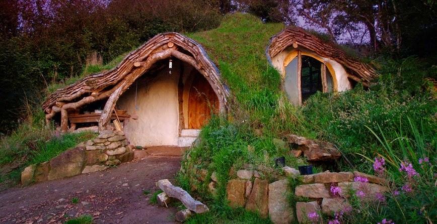 casa hobbit primer plano