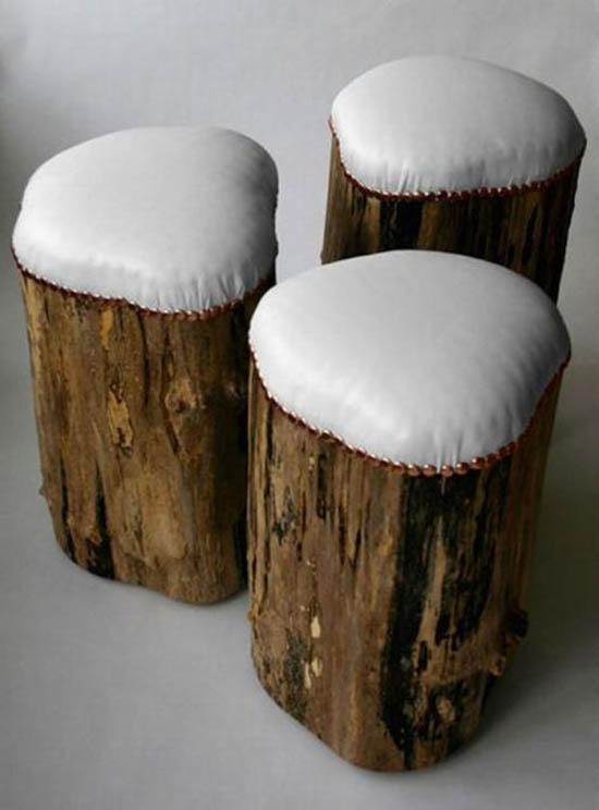 50 ideas decorativas y tiles para hacer con troncos de - Tocones de madera ...