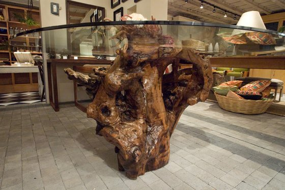 Mesa rustica tronco - Tronco madera decoracion ...