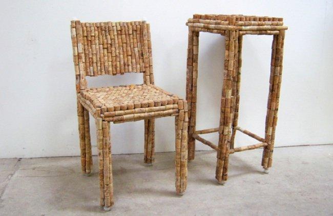 reusando corchos para muebles