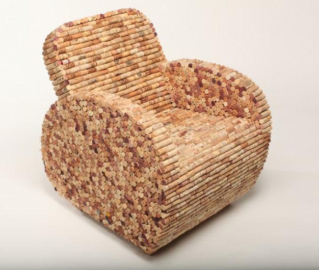 sillón en corcho