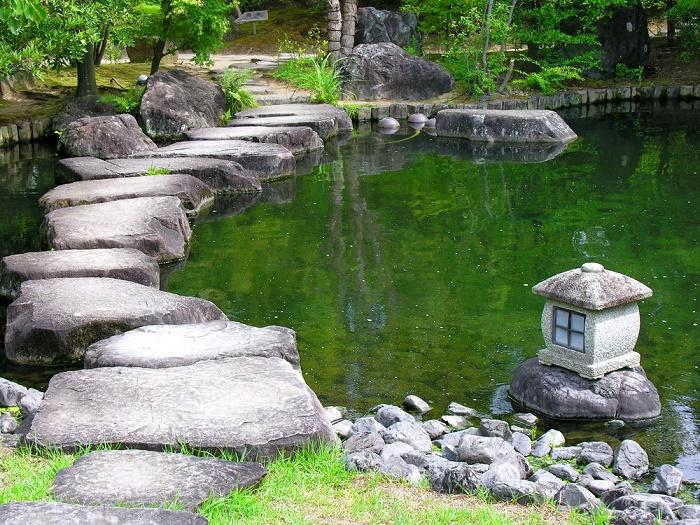 Jardín zen agua