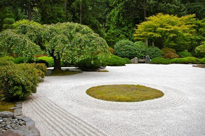 Jardín zen círculo