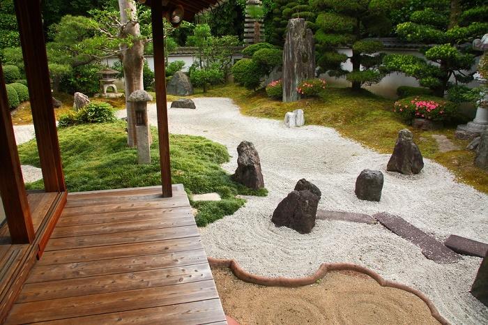 Jardín zen madera