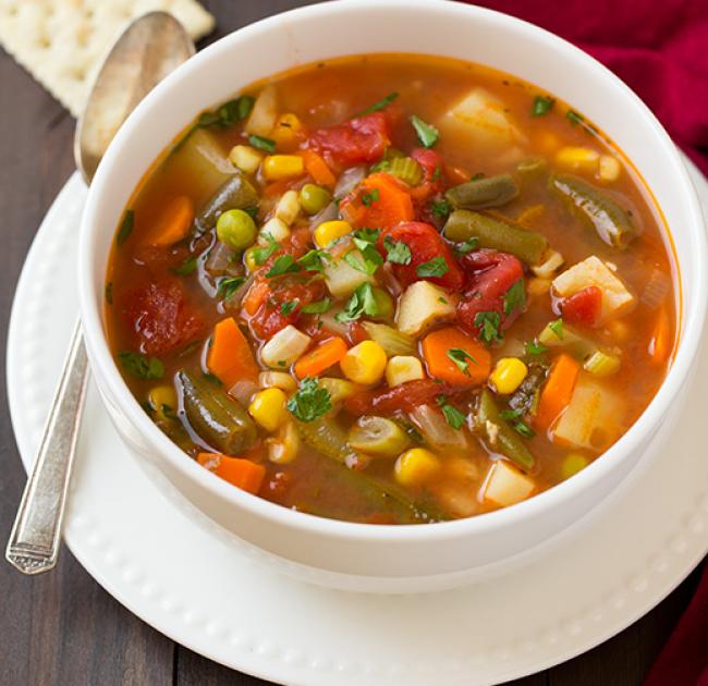 bocados sopa de verduras