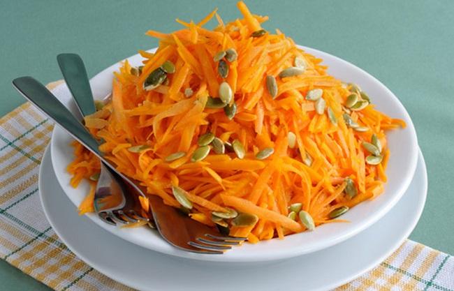 bocados zanahoria y semillas de calabaza