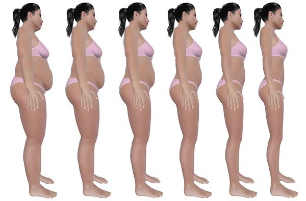 serie de antes y después bajar de peso