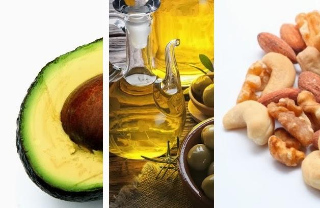 aguacates y aceite de oliva con grasas saludables que no engordan