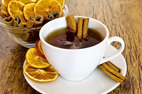 té con aceite de canela