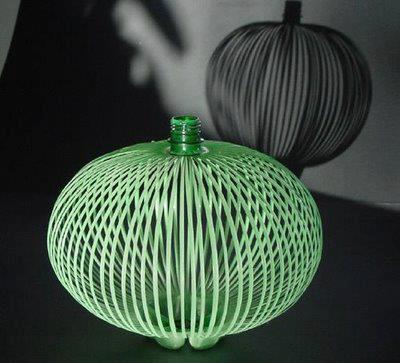 botellas de plástico lámpara