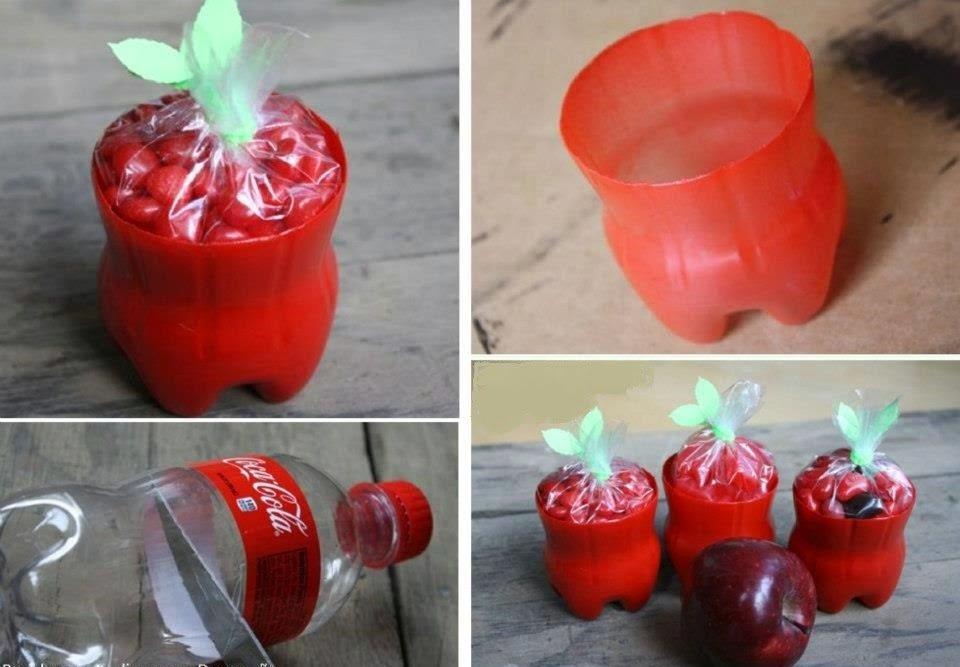 bote de plástico reutilizada
