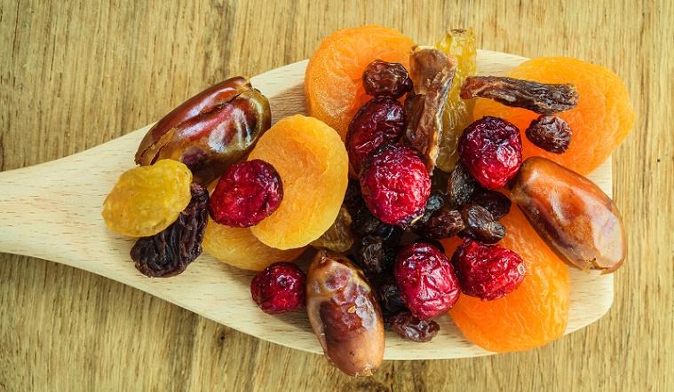 Frutas desecadas verdaderas golosinas