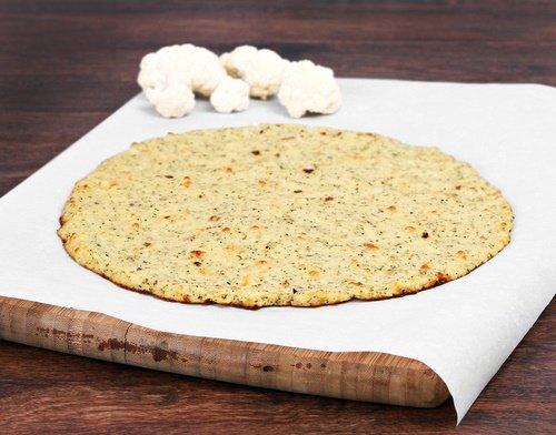 Pizza sin gluten coliflor