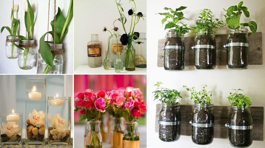 Organiza y decora con frascos de vidrio for Decoracion de frascos de vidrio para cocina
