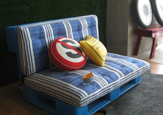 Camas y sofas con pallets
