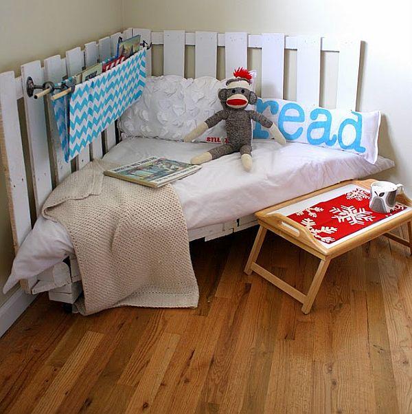 diseño de camas y sofas utilizando pallets