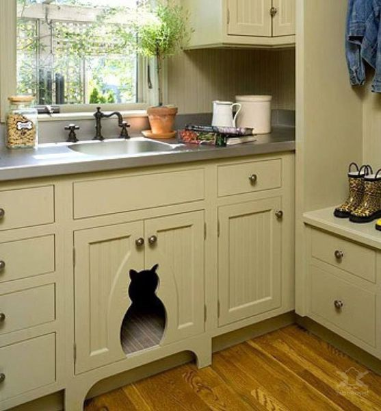camas para mascotas cocina