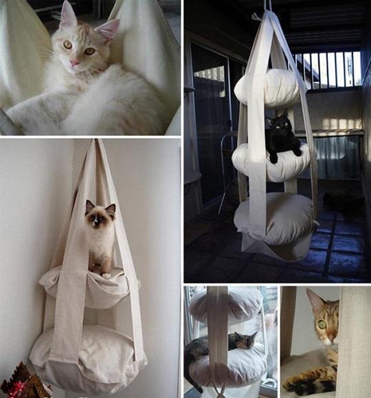 33 ideas de guaridas y camas para consentir a tus mascotas for Cama para gatos