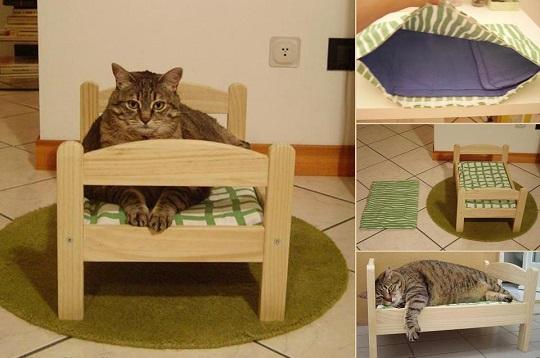 33 ideas de guaridas y camas para consentir a tus mascotas - Camas para gatos ...