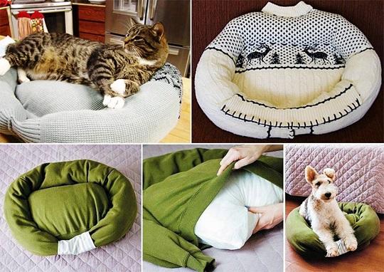 camas para mascotas sweater