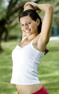 ejercicio para reducir la flacidez de los brazos