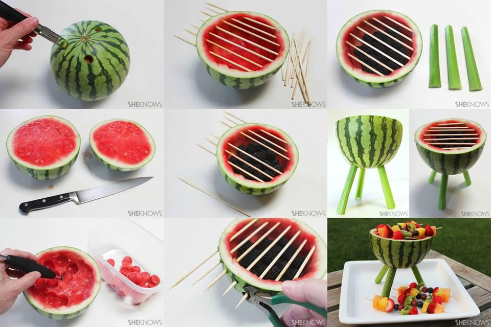 maneras de hacer ensaladas de frutas más atractivas para los pequeños