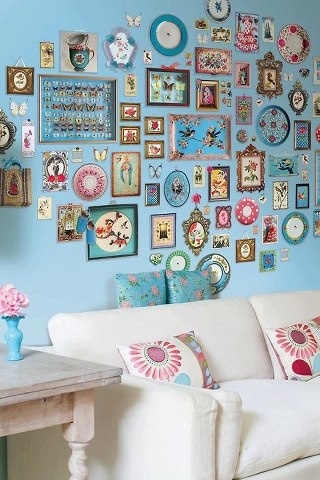 Diseño de interiores con decoración
