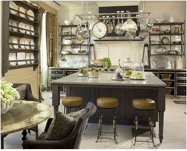 Diseño de interiores para cocina rústica