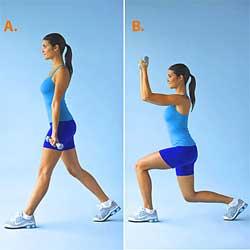 estocadas para reducir la cintura y caderas