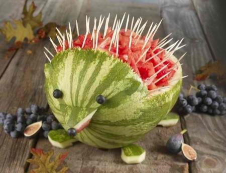 animal creado con sandías