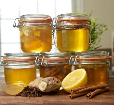 infusiones curativas con miel de abeja