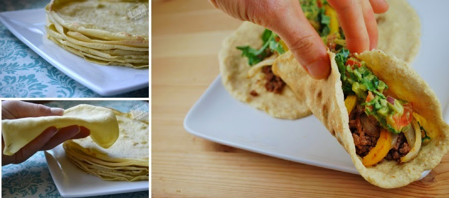 Tortillas saludables de harina sin gluten