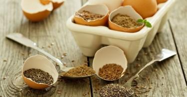 Semillas de lino y chia