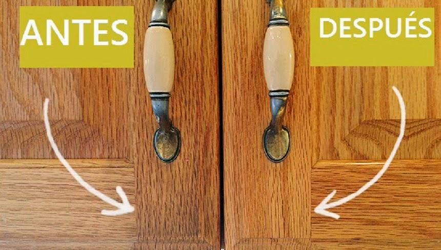 Quitar la grasa de los gabinetes de la cocina - Como limpiar muebles ...