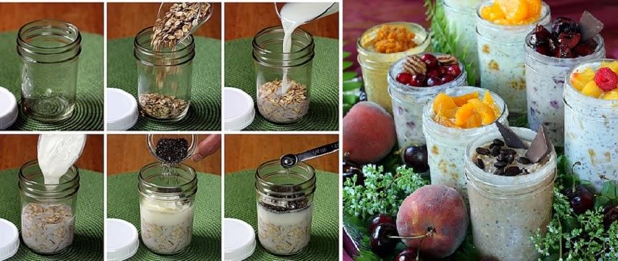 como preparar avena cruda para el desayuno