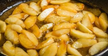 Manzanas cura hervidas