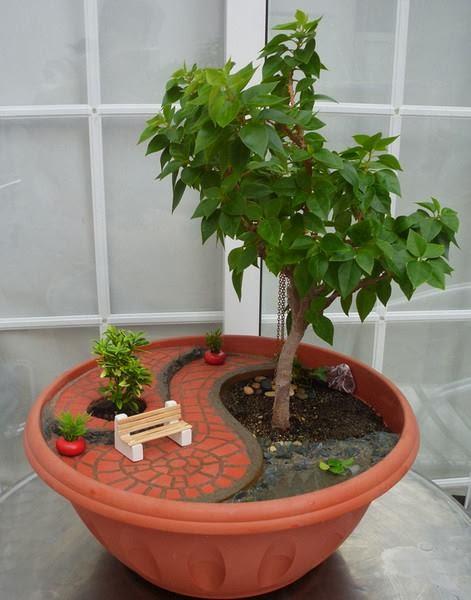 30 ideas creativas con plantas para decorar tu hogar y jard n - Plantas para jardin zen ...