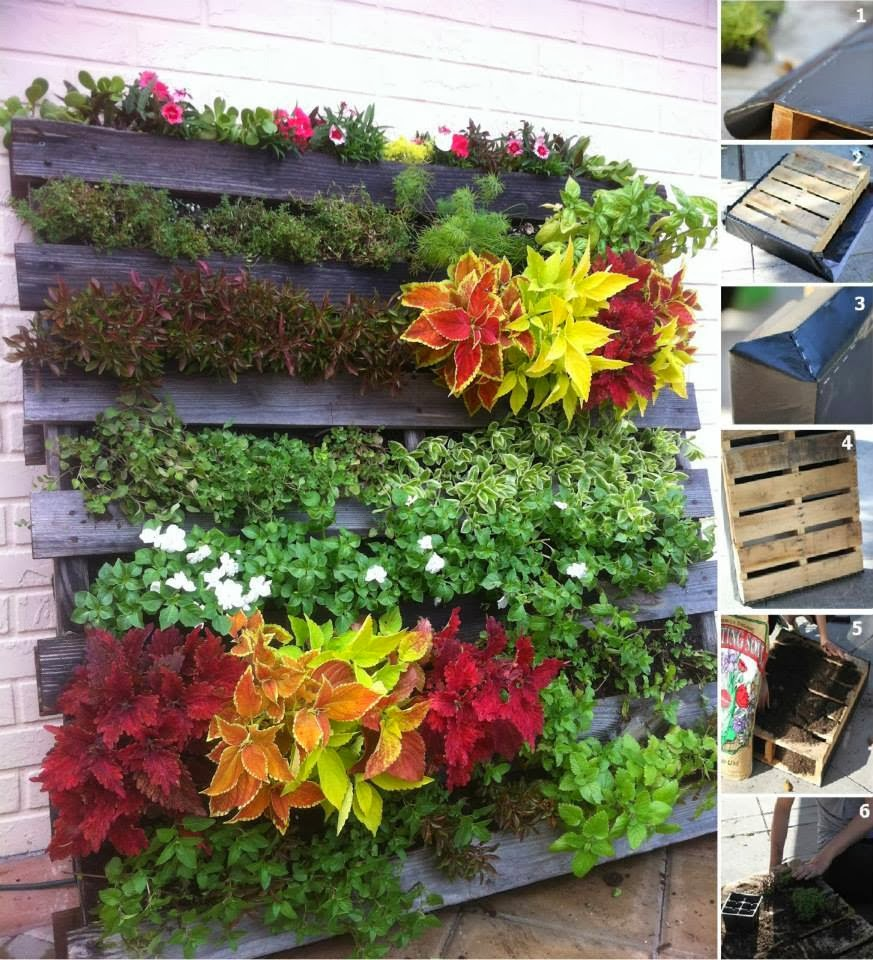 30 ideas creativas con plantas para decorar tu hogar y for Jardines reciclados