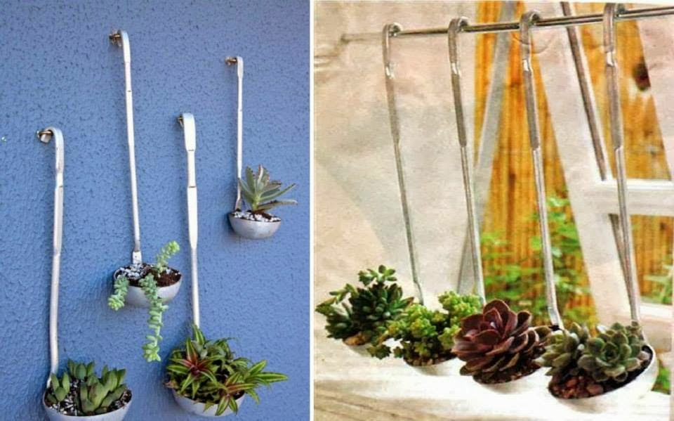 30 ideas creativas con plantas para decorar tu hogar y for Como decorar mi jardin con plantas