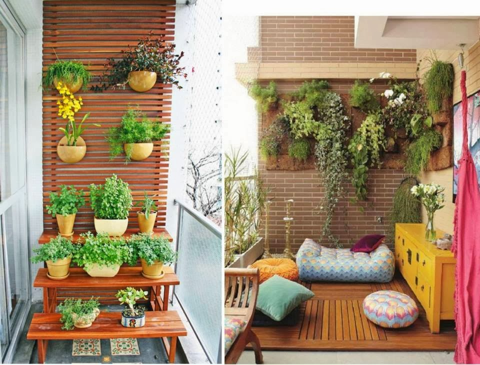 30 ideas creativas con plantas para decorar tu hogar y for Decoracion de jardin pequeno sencillo